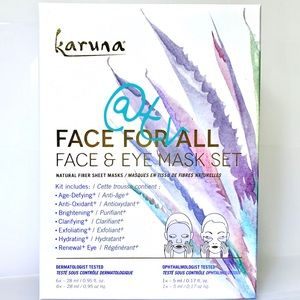 2/$35 Karuna Face For All Face & Eye Mask Set NEW